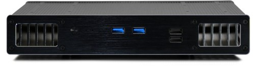 Front view of the UltraNUC Pro 7 Fanless PC - Plato X7 (Core i7 compatible)