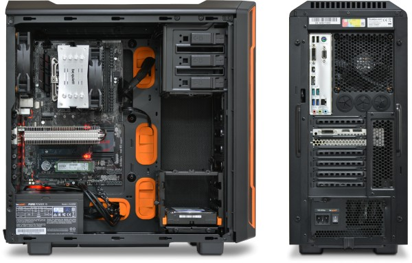 be quiet A600, side panel removed with Pure Rock, Palit Kalmx GTX 1050 Ti installed Please note, image above shows previous version of the chassis